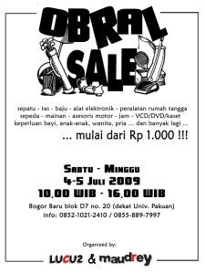 Leaflet Bazar - vertikal